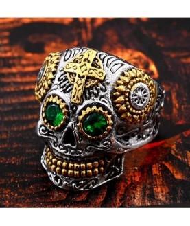 Bague Acier Biker Skull...